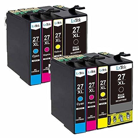 LxTek Compatible Cartouches d'encre Epson 27 XL (2 Noir, 2 Cyan, 2 Magenta, 2 Jaune) pour Epson WorkForce WF-3620DWF WF-3640DTWF WF-7110DTW WF-7610DWF WF-7620DTWF Imprimante