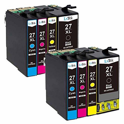 LxTek Kompatibel Ersatz für Epson 27 27XL Druckerpatronen für Epson Workforce WF-7210DTW WF-7710DWF WF-7720DTWF WF-3620DWF WF-3640DTWF WF-7110DTW WF-7610DWF WF-7620DTWF WF-7715DWF (2BK, 2C, 2M, 2Y) -