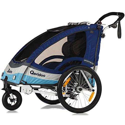 Qeridoo Sportrex2 Poussette/remorque de vélo pour enfant