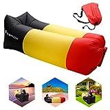 Luftsofa, icefox Wasserdichtes Aufblasbares Air Lounger mit Tragebeutel, zum Schlafen im Freien, im Innenbereich, zum Zurücklehnen und Entspannen, Aufblasbarer Sitzsack für Camping|den Strand| zum Fischen