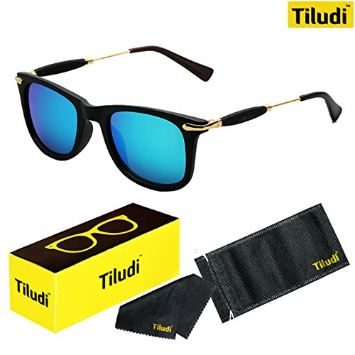 Tiludi Fashion Wayfarer Unisex Sunglass(Gog041| 57| Blue)