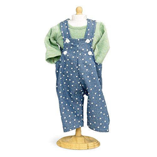 18649b0a1ccc Boy Dolls Clothes - Blue Star Patterned Dungarees With Green Top ...