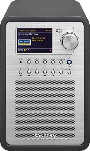 Sangean WFR-70C Internet Radio (Netzwerk Music-Player, WiFi, DAB+, Spotify-Player, UKW-RDS, AUX-In, Lautsprecheranschluss) grau (Netzwerk-radio-player)