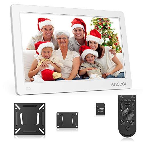 Andoer 15.6 Zoll Digitaler Bilderrahmen IPS Bildschirm Unterstützung Kalender/Uhr / MP3 / Fotos / 1080P Video Player mit Wandhalterung + 8 GB Speicherkarte Schönes