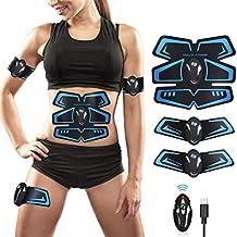 EGEYI Electroestimulador Muscular Abdominales Cinturón,Masajeador Eléctrico Cinturón con USB,EMS Ejercitador del Cuerpo
