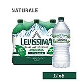 LEVISSIMA, Acqua Minerale Naturale Oligominerale 1l x 6 - Bottiglia 30% di origine vegetale