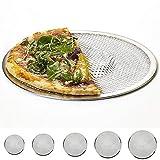 6''-12'' Aluminium Flat Mesh Pizza Screen Oven Baking Tray Net Cookware Plate Pan