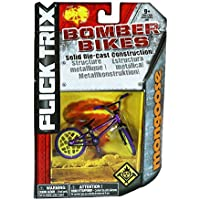 Flick Trix Die-cast Bomber Bikes - Mongoose (Purple with Yellow & Black Trim)