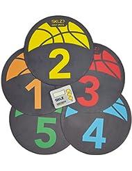 SKLZ Shot Spotz - Kit para el entrenamiento con 5 marcadores y 1 contador de tiempo digital