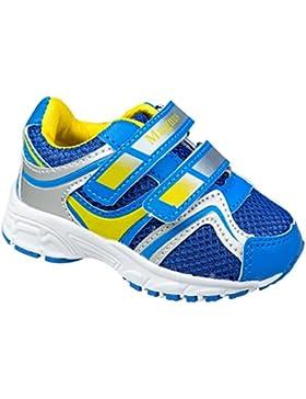 GIBRA® Kinder Sportschuhe, mit Klettverschluss, blau/gelb/silber, Gr. 22-27