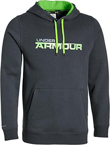 Under Armour, Felpa da fitness Uomo, motivo: Storm Rival Wordmark Grigio
