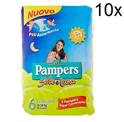 10x Pampers sole e luna Gr.6 13 Windeln 15-30 kg kinder baby diapers Packung