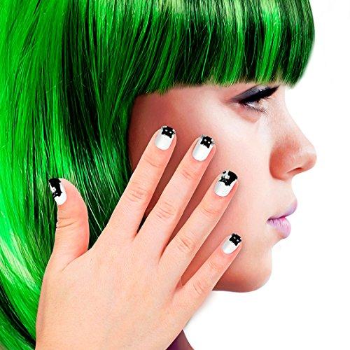 nägel Katze Nägel zum Aufkleben Kunstfingernägel Catwoman Falsche Nägel Faschingsnägel Cat Nails Künstliche Fingernägel Katzen Look (Catwoman Kind)