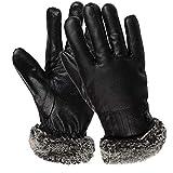 Herren Winterliche Windhandschuhe, Touchscreen Warmes, Schwarzes, Wasserdickes Reiten Plus Baumwollhandschuhe