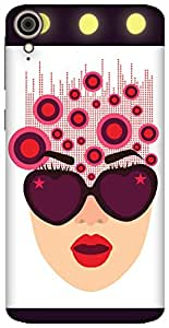 The Racoon Grip Inside her mind.. hard plastic printed back case / cover for HTC Desire 828