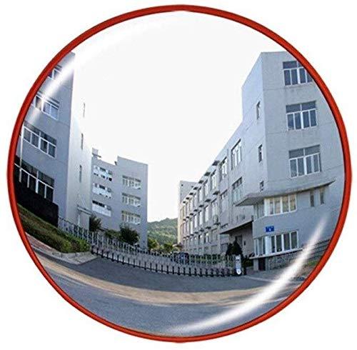 xd specchi di sicurezza lenti grandangolari in plastica, specchio sferico infrangibile rosso espandere il campo visivo specchio convesso adatto per interni da esterno 77cm (dimensioni: 77cm)