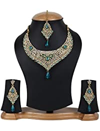 Jewels Gold Antique Party Wear Gold Plated Fashion Designer Latest Necklace Set For Women & Girls