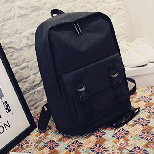 La Vogue-Zaino Unisex Vintage Zainetto Scuola Computer Borsa Montagna 43*28*16cm Blu Nero