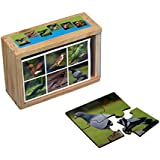 Jigsaw 4 Piece Puzzles For Kids - 6 Different Birds In One Puzzle Box For Toddlers
