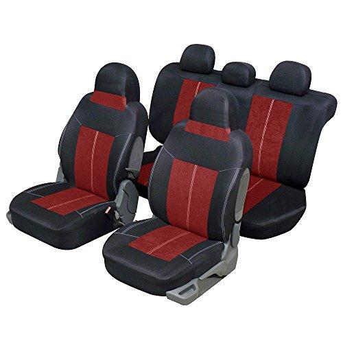 Sitzbezüge, Schwarz Rot für Auto Stadtleben 4oder 5Sitzer–qd386