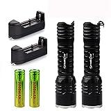 Koly 2x6000Lumen recargable Tactical CREE Q5 LED Linterna +18650 Batería y cargador