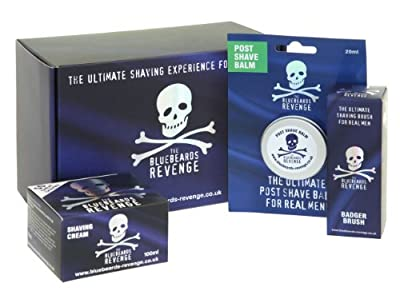 The Bluebeards Revenge White Shaving Cream and Badger Brush Gift Set
