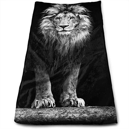 ewtretr Asciugamani Viso-Mani, Lion Microfiber Beach Towel Large & Oversized - 11.8'X27.5' Towels, Best for Outdoor & Camping, Sports, Travels, Quick Drying And Super Absorbent Technology