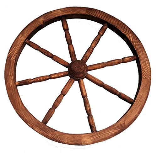 nattoyz en bois charrette roue Ornemental bois charrette WAGON Roues 59cm jardin décoration