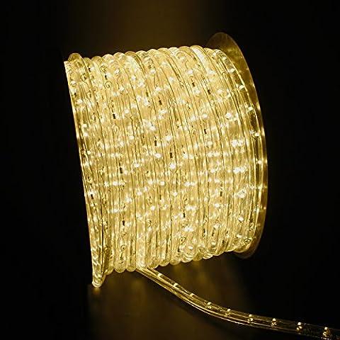 Forever Speed LED Lichterschlauch Lichtschlauch 50M Warmweiß Beleuchtung Energiespar Weihnachten Lichterkette Außen/Innen 36Leds/m Schlauch - Komplett Set inkl. 50 Wandhalterungen