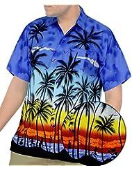 La Leela | Blusa Hombre Casual Moda vestir originales | manga corta regular fit Beach Shirt camisa de cuello | Hawaiana Camisetas formal XS - 5XL