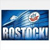 Hansa Rostock Hissfahne/ Flagge (Fahne) mit Ösen