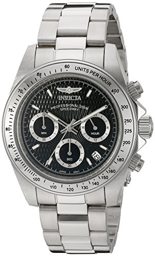 Invicta Speedway - 9223 Orologio da Polso, Cronografo, Uomo, Cinturino Acciaio Inossidabile, Argento