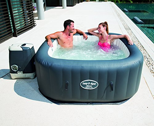 lay z spa hawaii hydrojet pro hot tub square inflatable spa 4 6 person garden rattan furniture. Black Bedroom Furniture Sets. Home Design Ideas
