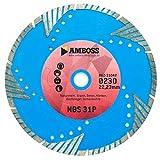 Amboss NBS 31P - Diamant-Trennscheibe Ø 115 mm x 22,2 mm - Naturstein / Granit / Beton / Klinker / Dachziegel / Zementrohre | Segmenthöhe: 10 mm (gesintert)