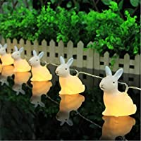 NNUK 10 LED coniglio luci leggiadramente della stringa bianco caldo pile della luce per il Natale del partito all'aperto. - Guardare La Finestra Sul Cortile