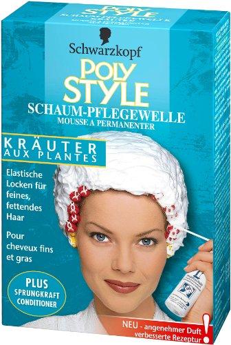 Schwarzkopf Poly Style Kräuter, Schaum-Pflegewelle, 5er Pack (5 x 170 ml)