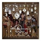 QTZJYLW Home Fensteraufkleber Weihnachtsglocke Hängende Kugel Muster PVC-Wandaufkleber Für Weihnachtsgeschäft Party-Fensterdekorationen