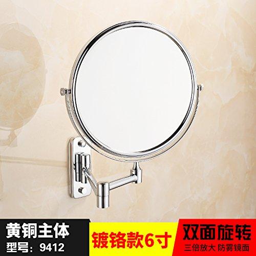 Quadratischen Sockel (Morct Messing Quadrat unten 8 Zoll Double Face Beauty Spiegel antike goldene Badezimmerspiegel Wc ausziehbaren Spiegel an der Wand, quadratischen Sockel Chrom 6 Inchmodern und Einfach, komfortabel und langlebig Home, Schöne und dreckig)