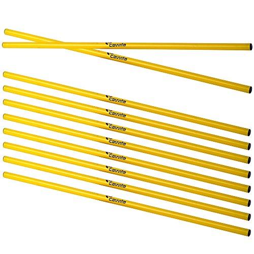 Cawila Trainingsstangen 10x, Gelb, 100 cm, 00930053