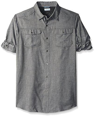 Columbia Men's Tall Pilsner Lodge Long Sleeve Shirt, 2X/Tall, Shark Heather -