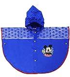 Unbekannt Regencape / Regenponcho -  Disney Mickey Mouse  - Gr. 116 - 146 - Circa 5 bis 9 Jahre - für Kinder - Jungen & Mädchen / Regenumhang mit Kapuze - Cape - Maus..