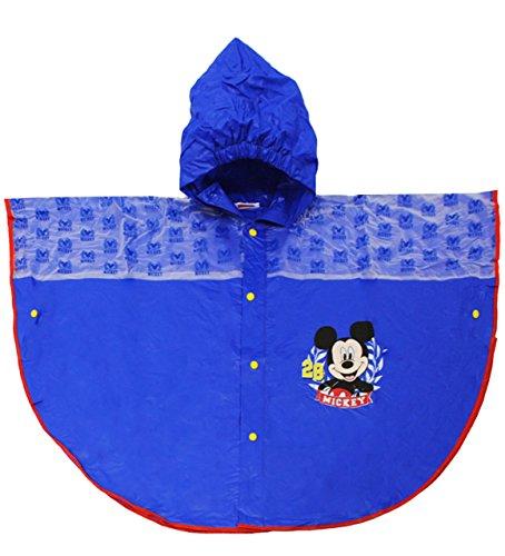 alles-meine.de GmbH Regencape / Regenponcho -  Disney Mickey Mouse  - Gr. 116 - 146 - Circa 5 bis 9 Jahre - für Kinder - Jungen & Mädchen / Regenumhang mit Kapuze - Cape - Maus..