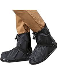 THEE Impermeable Cubrecalzado PVC Cubrezapatos de Botas de Lluvia al Aire Libre Antideslizantes Reutilizables Cubiertas de