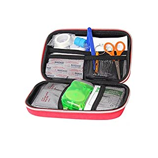 The medical package tour outdoor car USES the portable home field supplies the first aid kit (red)