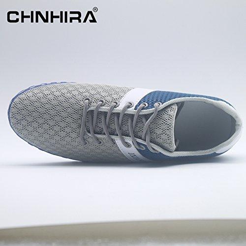 CHNHIRA Unisex Herren Schnuren Laufschuhe Helle Profilsohle Sportschuhe Flats Runners Sneaker Sport Turnschuhe Hellblau