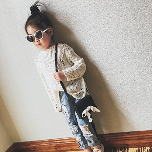 Zarupeng Kinder Mädchen Spitze Bogen Nette Handtasche Umhängetasche Mini Messenger Bag Schwarz