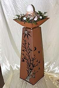 Rost s ule schale rs124 s11 s ulen konisch kostenloser for Rost schale dekorieren
