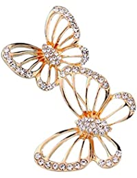 630ff03edf24 iTemer 1 Pieza Broches de bisuteria Pins y chapas Broches para Zapatos Pins  para Chaquetas Un Hermoso Regalo Metal Golden Dos Mariposas…