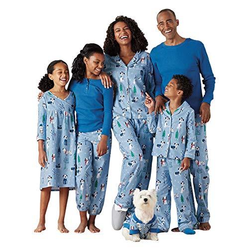 Meijunter Padre-Hijo Conjunto de Pijamas - Daddy Mommy Muchachos Chicas Niños Familia Matching Impresión Ropa de Dormir Sleepwear