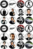 24 James Bond 007 Edible Wafer Paper Cup Cake Toppers